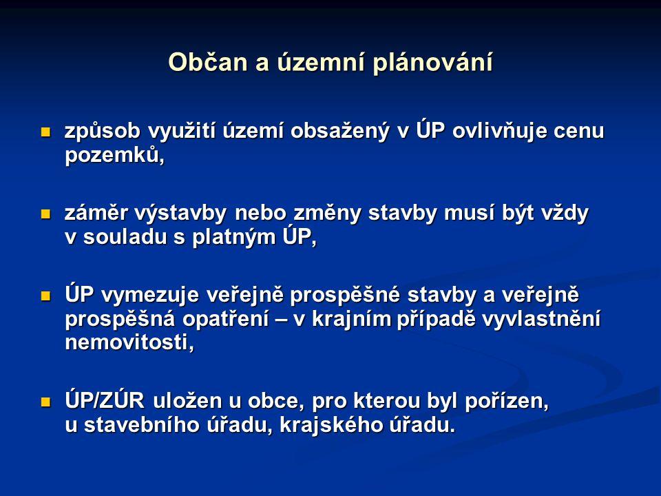 Občan a územní plánování