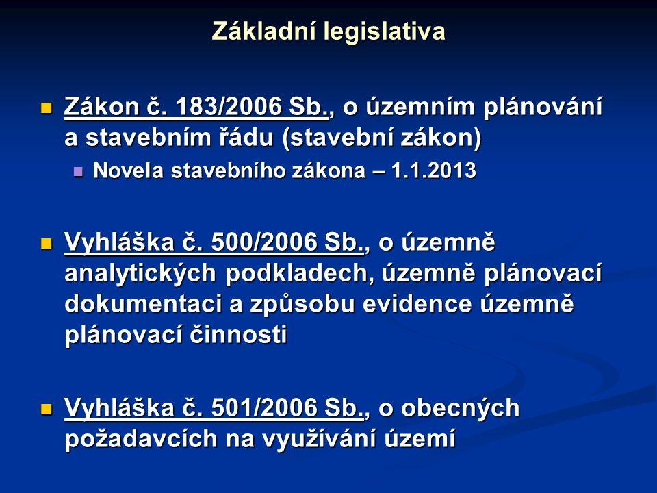 Vyhláška č. 501/2006 Sb., o obecných požadavcích na využívání území