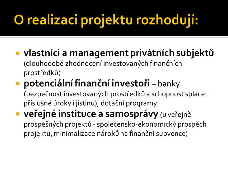 O realizaci projektu rozhodují: