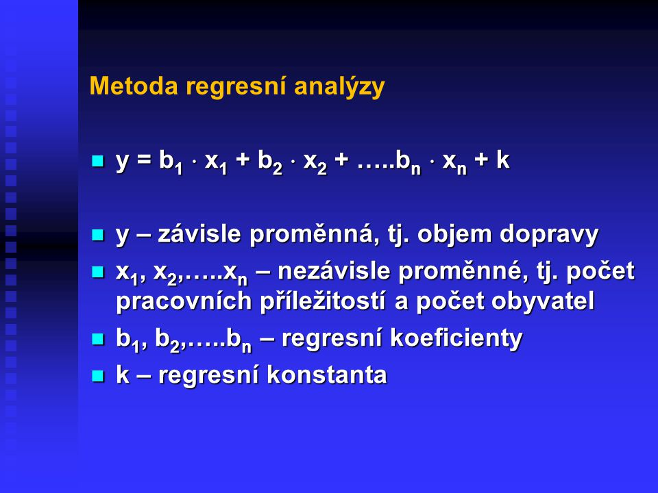 Metoda regresní analýzy