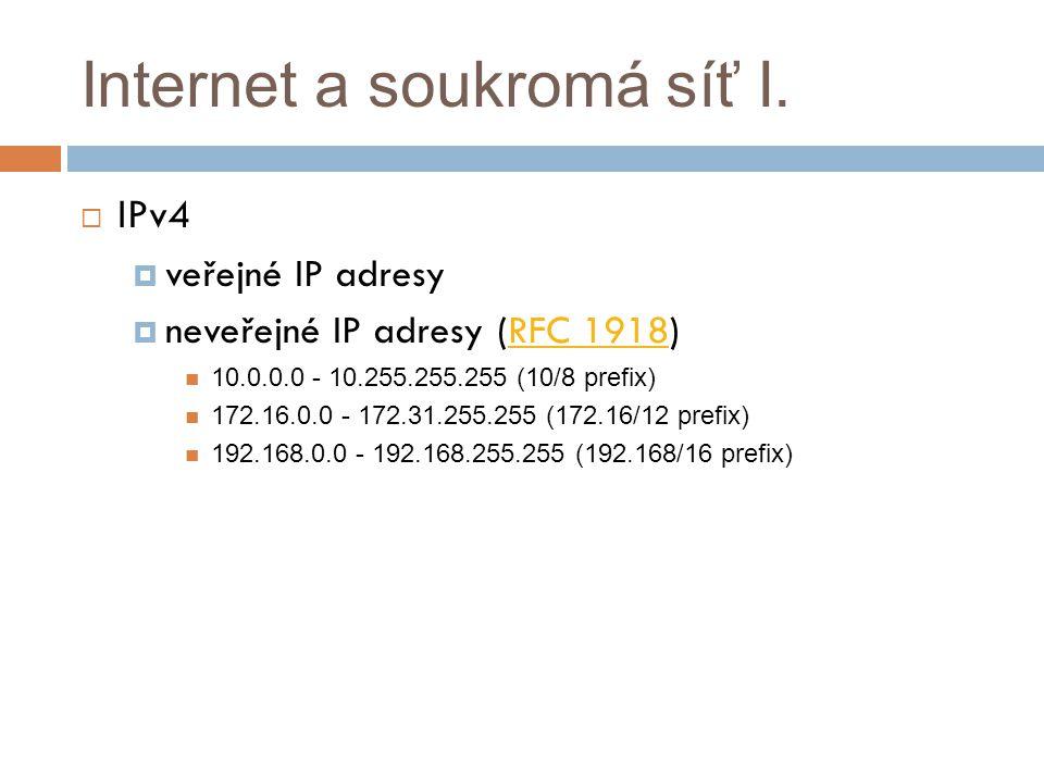 Internet a soukromá síť I.