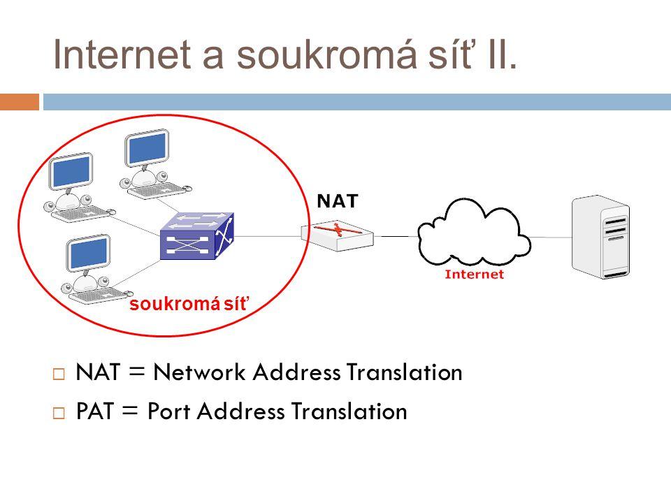 Internet a soukromá síť II.