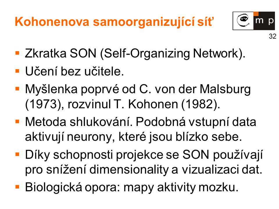 Kohonenova samoorganizující síť