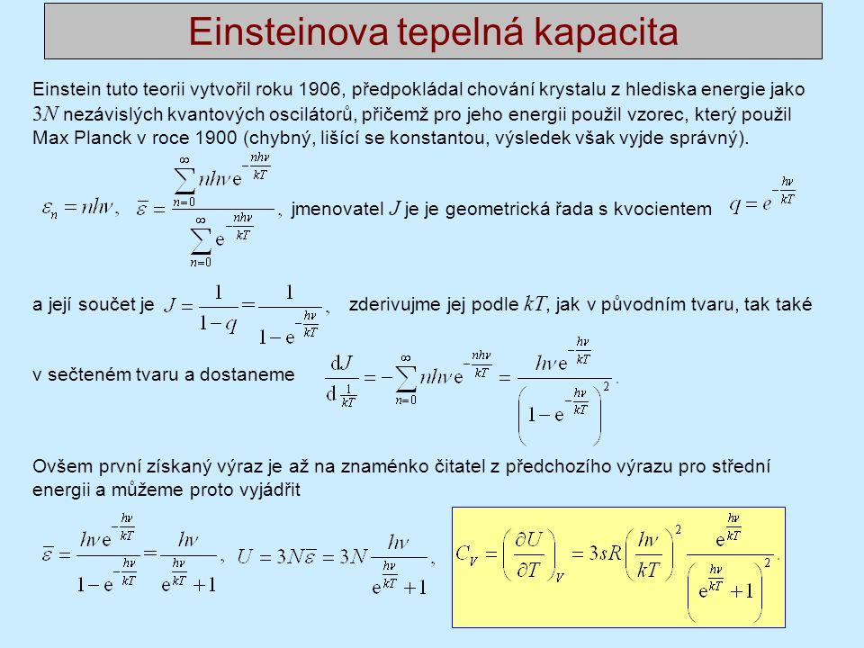 Einsteinova tepelná kapacita