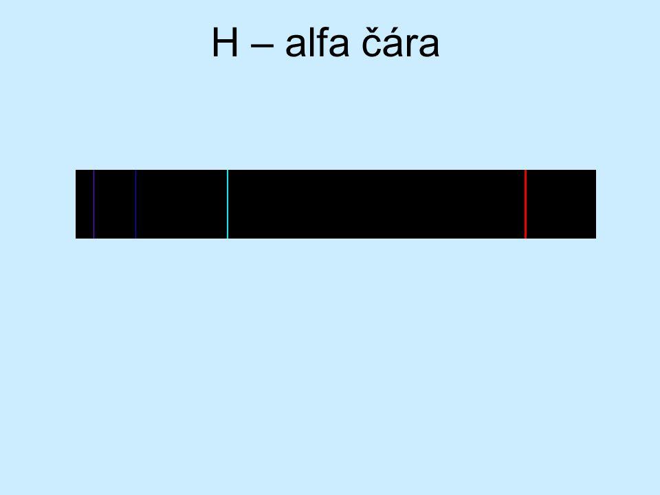H – alfa čára