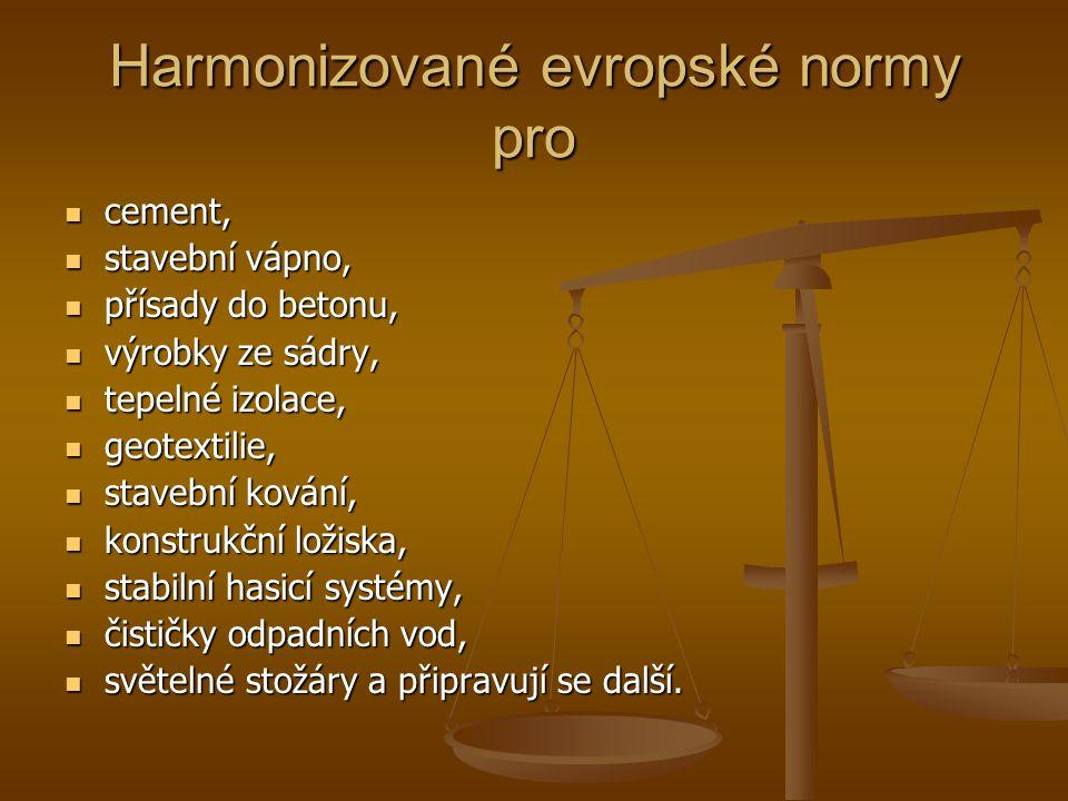 Harmonizované evropské normy pro