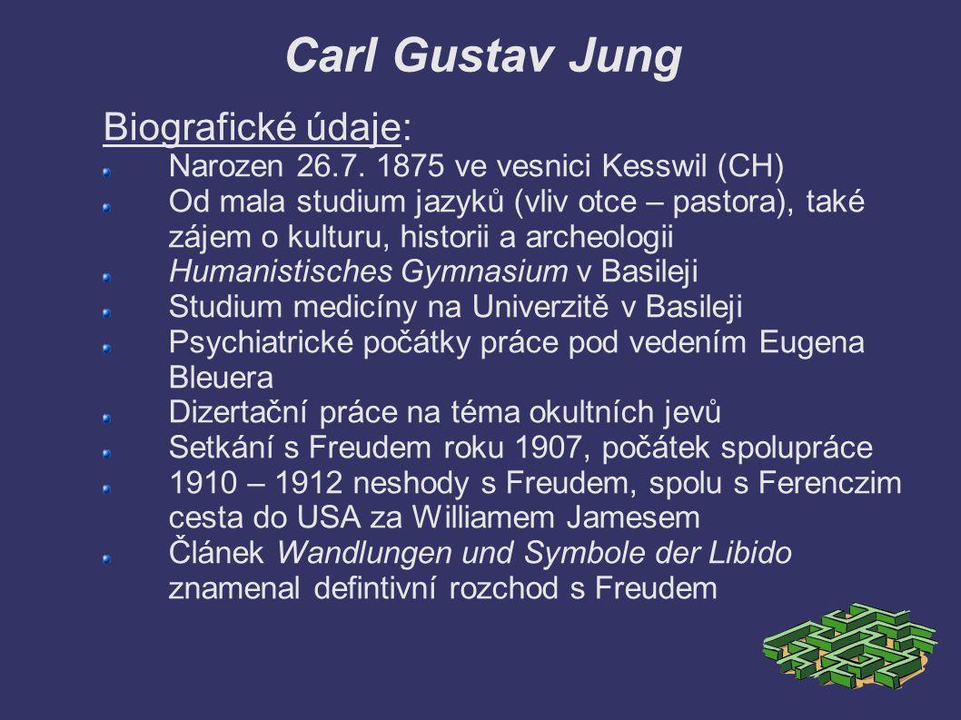 Carl Gustav Jung Biografické údaje: