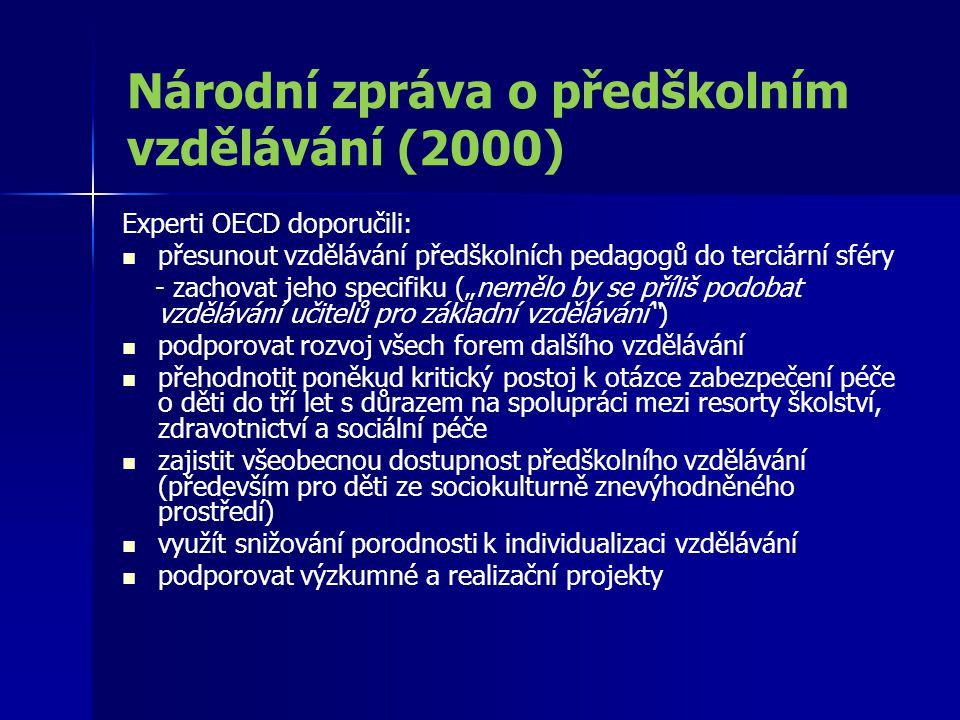 Národní zpráva o předškolním vzdělávání (2000)
