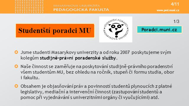 Studentští poradci MU Poradci.muni.cz