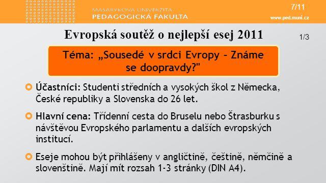 Evropská soutěž o nejlepší esej 2011