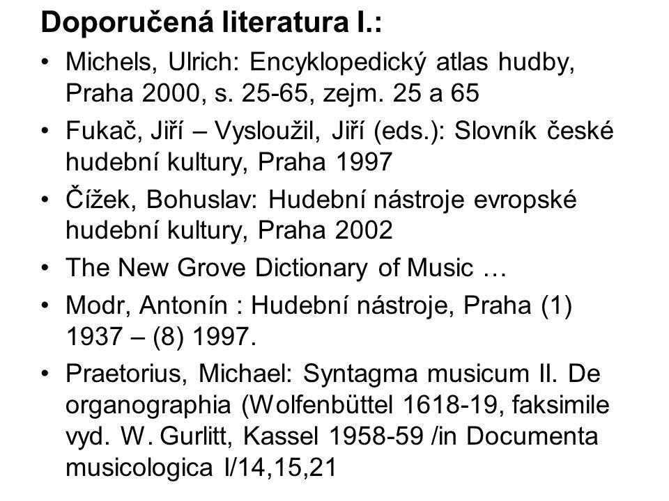 Doporučená literatura I.: