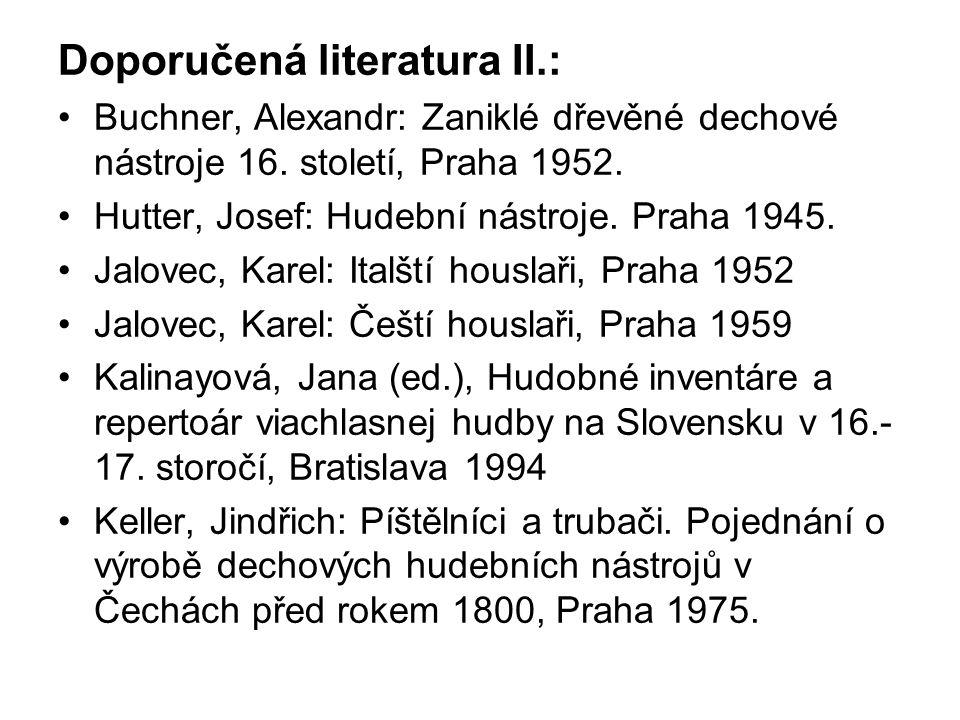 Doporučená literatura II.: