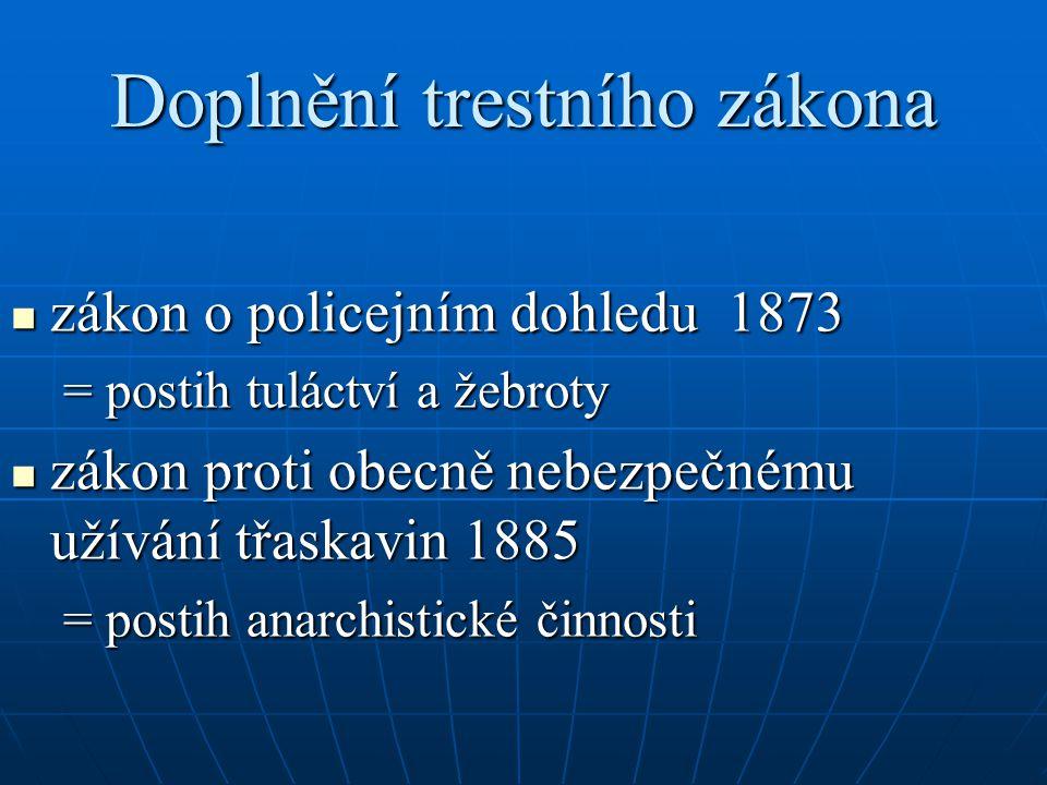 Doplnění trestního zákona