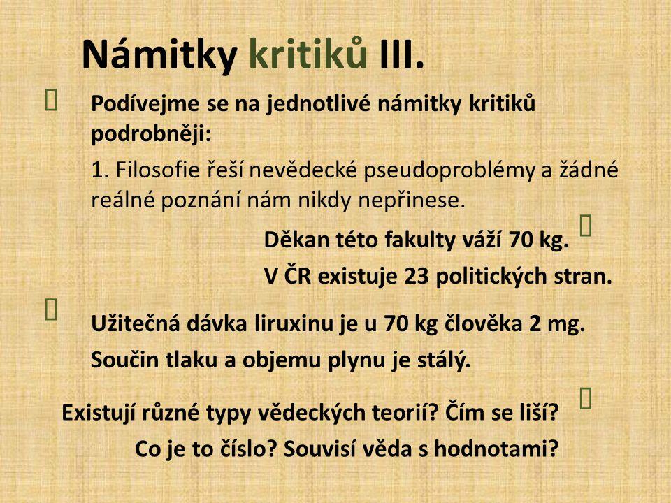 Námitky kritiků III. Ï Ò Ï Ò