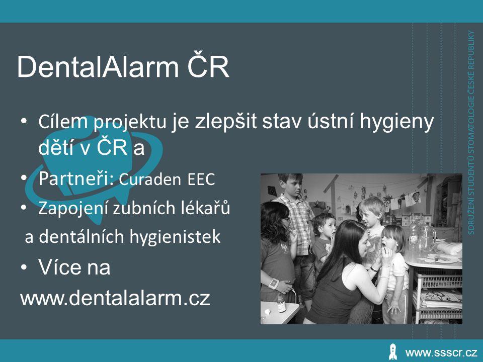 DentalAlarm ČR Cílem projektu je zlepšit stav ústní hygieny dětí v ČR a. Partneři: Curaden EEC. Zapojení zubních lékařů.