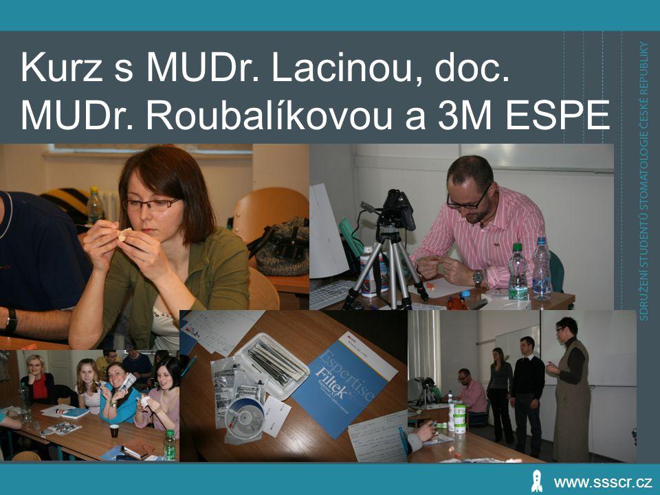 Kurz s MUDr. Lacinou, doc. MUDr. Roubalíkovou a 3M ESPE
