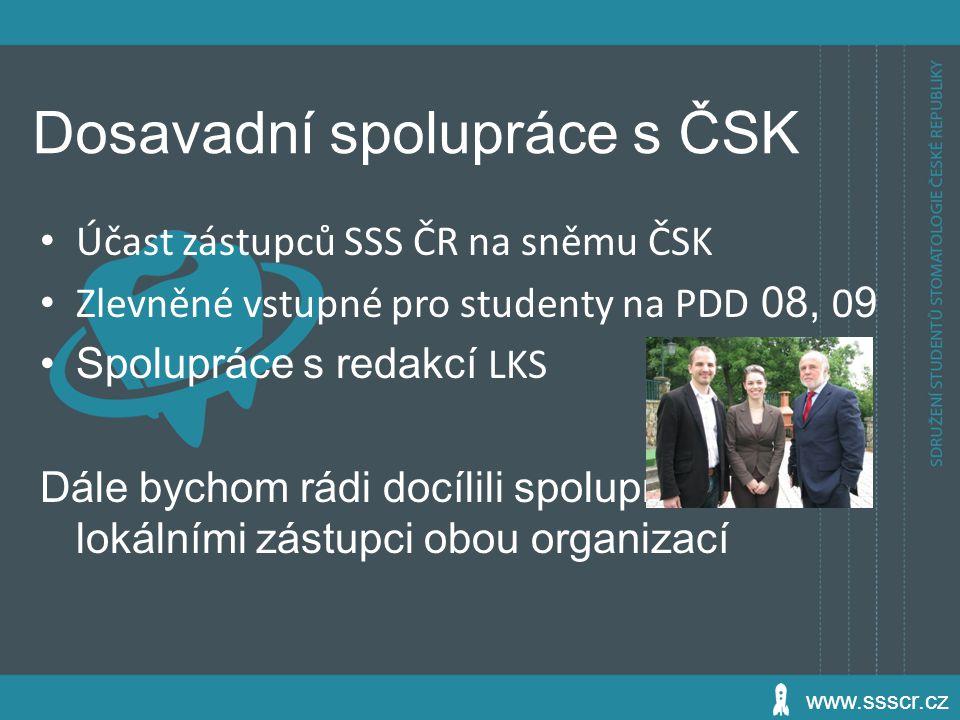 Dosavadní spolupráce s ČSK