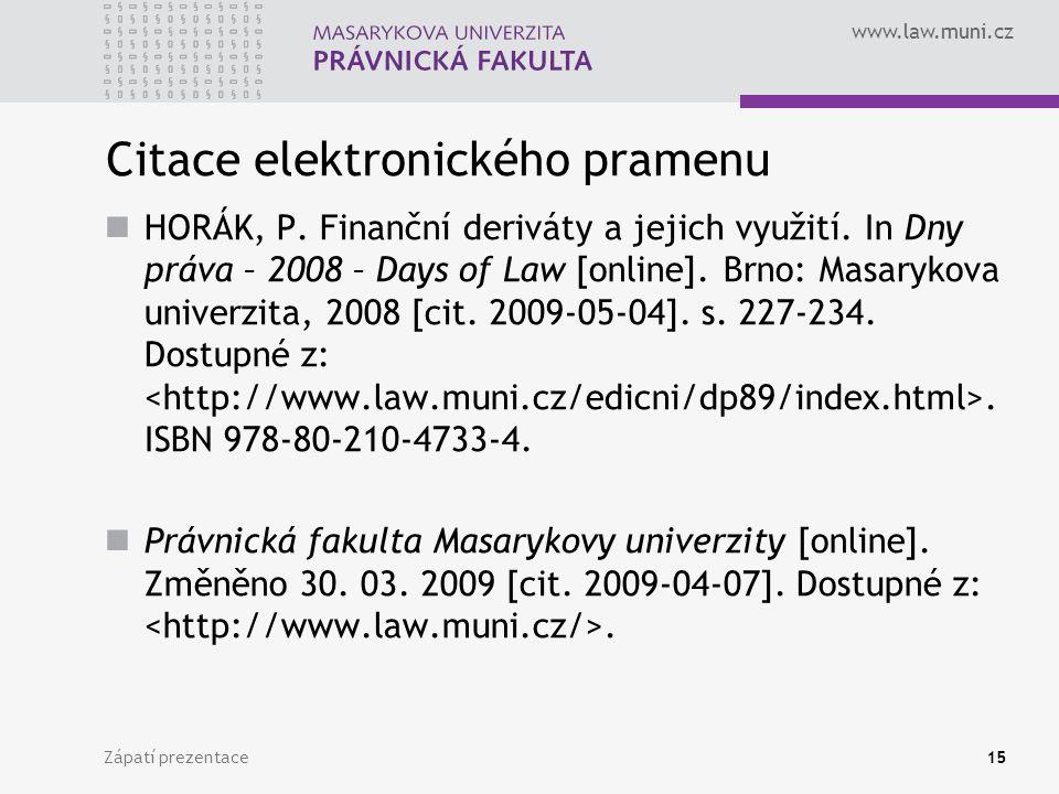 Citace elektronického pramenu