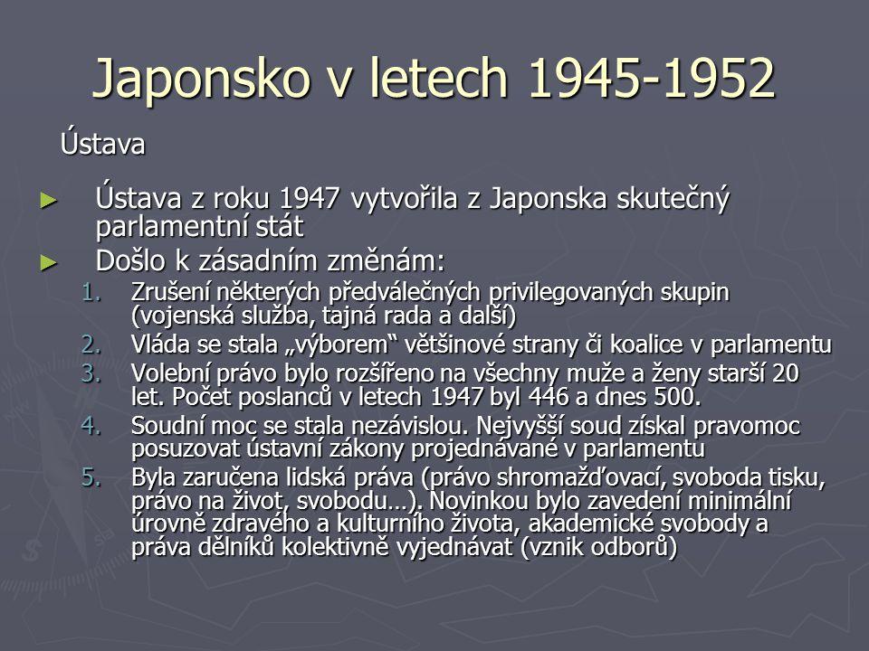 Japonsko v letech 1945-1952 Ústava