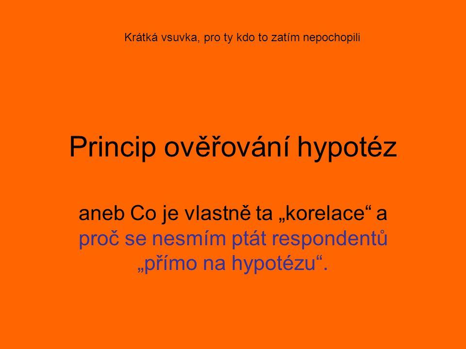 Princip ověřování hypotéz