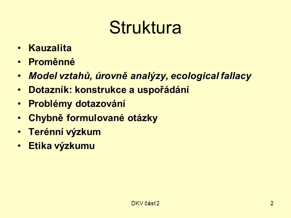 Struktura Kauzalita Proměnné