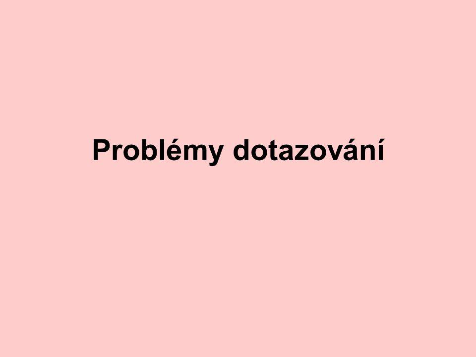 Problémy dotazování