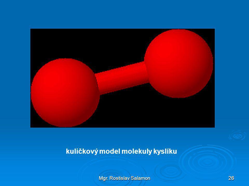kuličkový model molekuly kyslíku