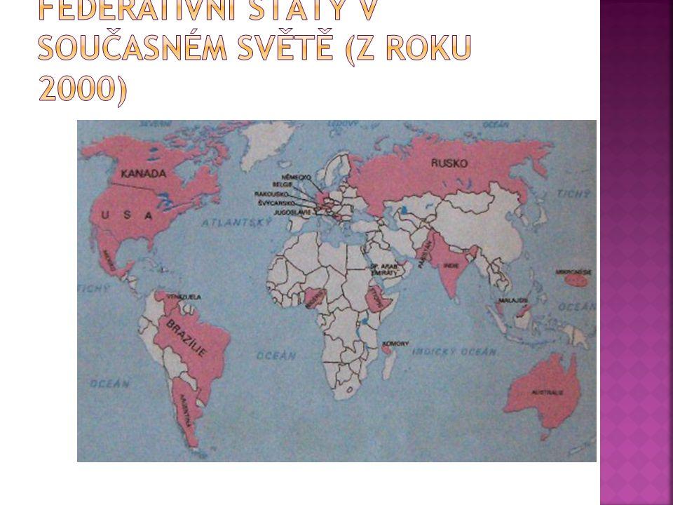 Federativní státy v současném světě (z roku 2000)