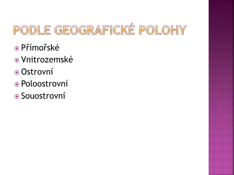 Podle geografické polohy