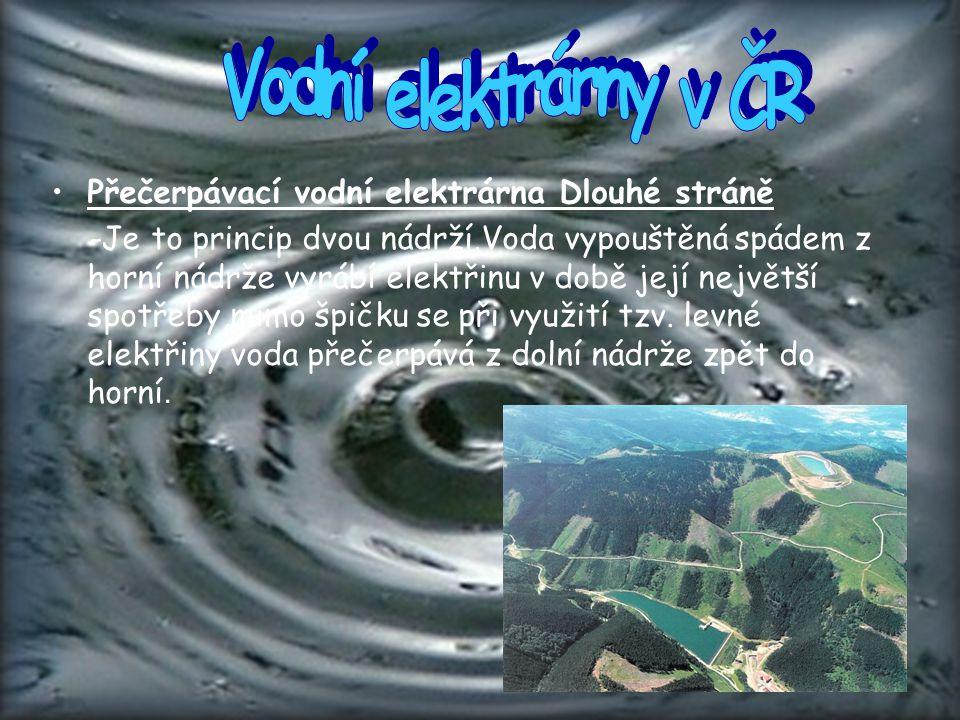 Vodní elektrárny v ČR Přečerpávací vodní elektrárna Dlouhé stráně