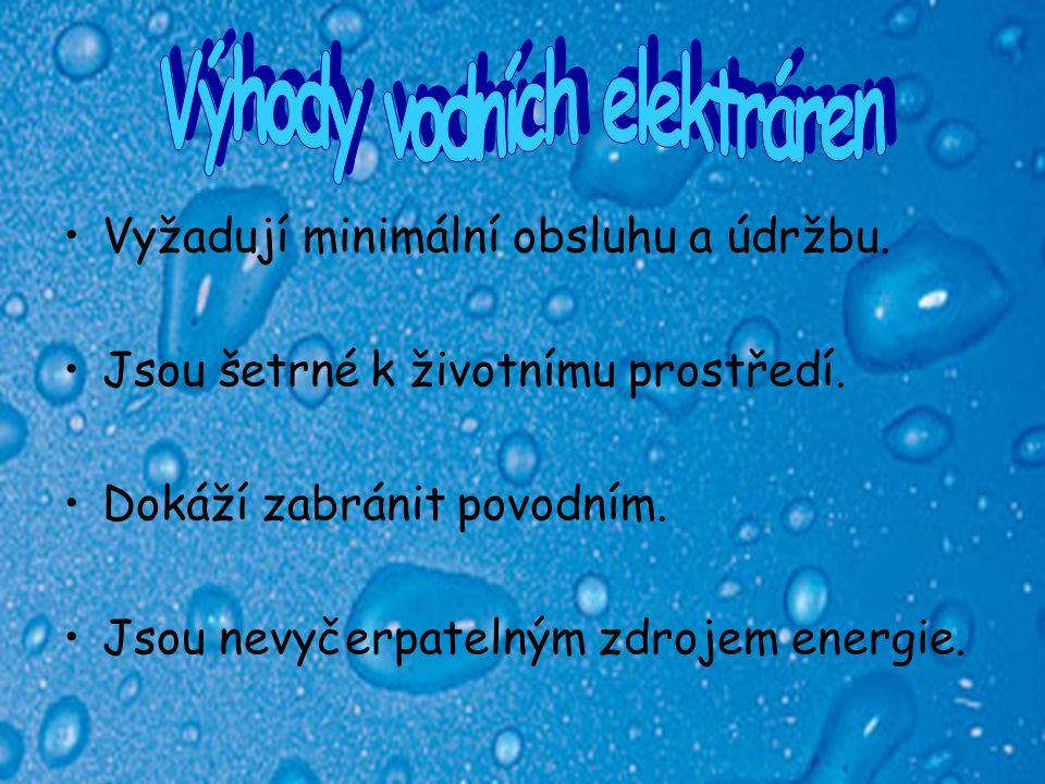 Výhody vodních elektráren