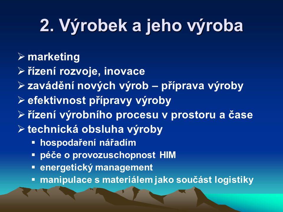2. Výrobek a jeho výroba marketing řízení rozvoje, inovace