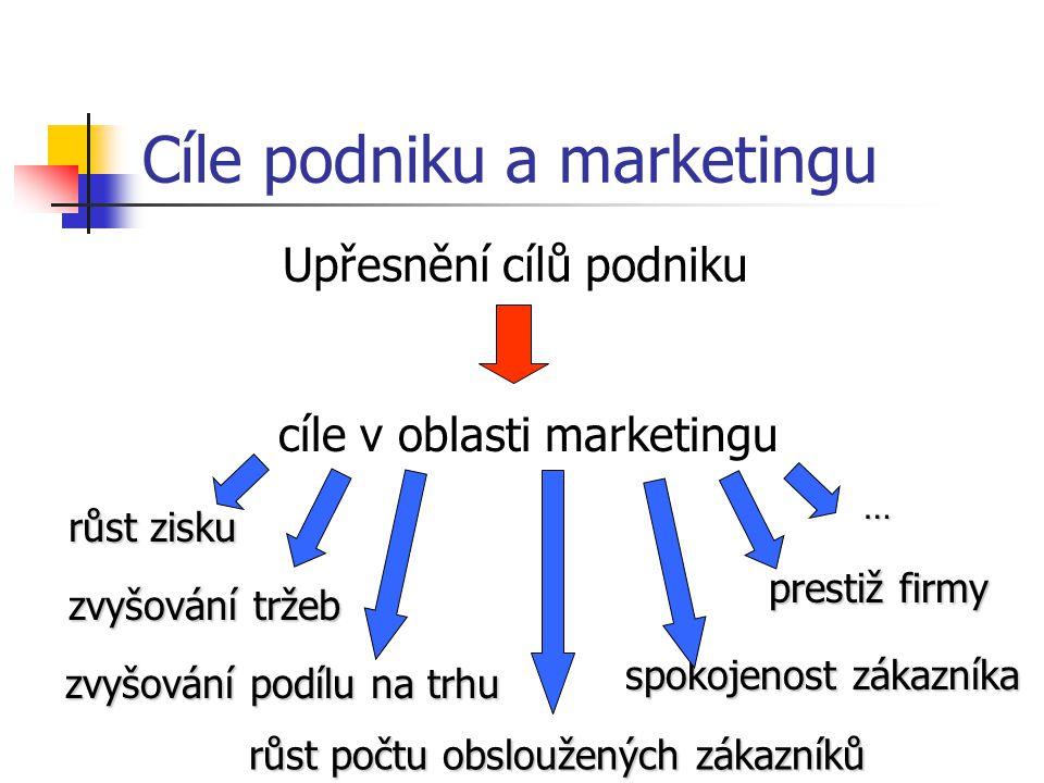 Cíle podniku a marketingu