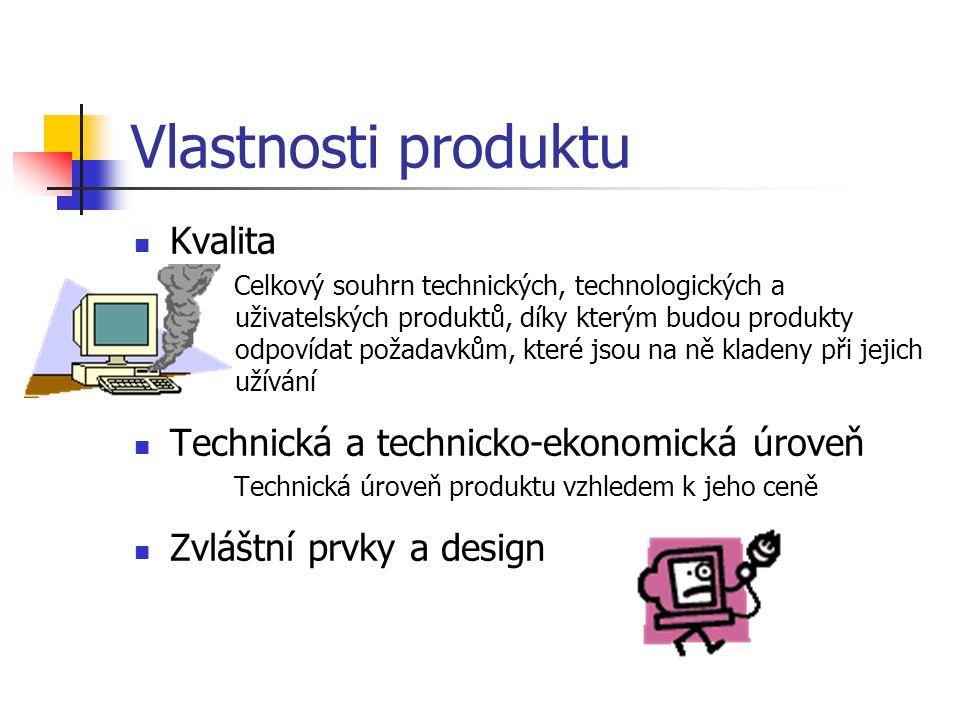 Vlastnosti produktu Kvalita Technická a technicko-ekonomická úroveň