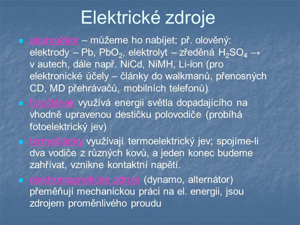 Elektrické zdroje