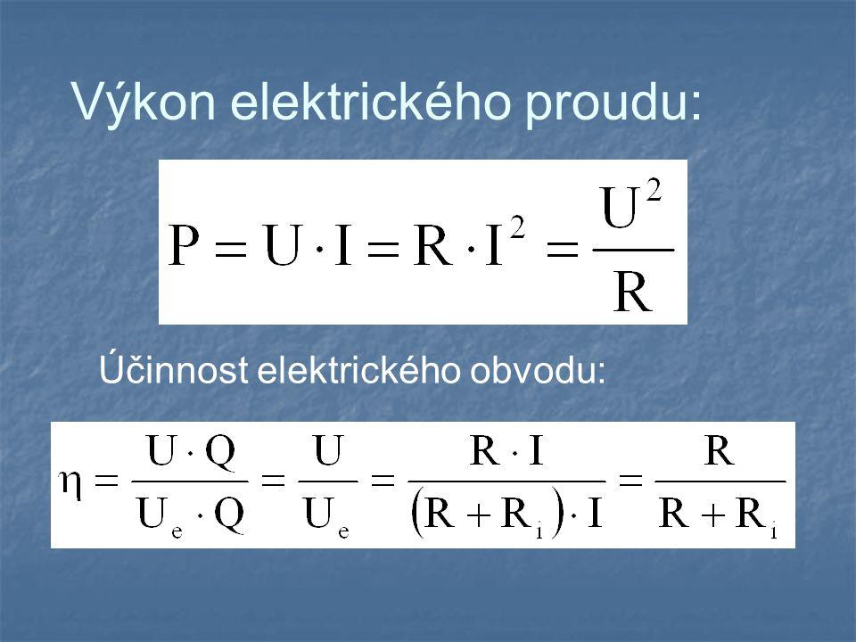 Výkon elektrického proudu:
