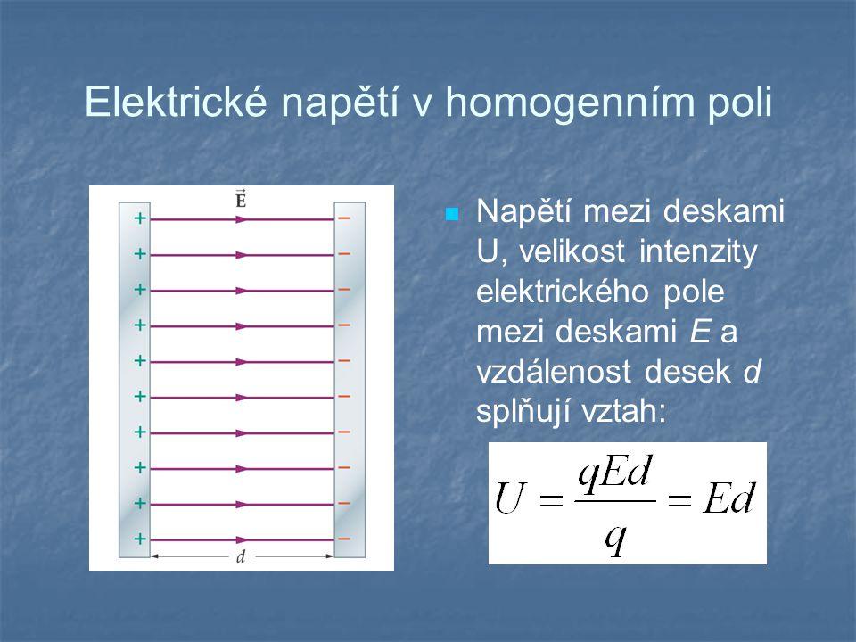 Elektrické napětí v homogenním poli