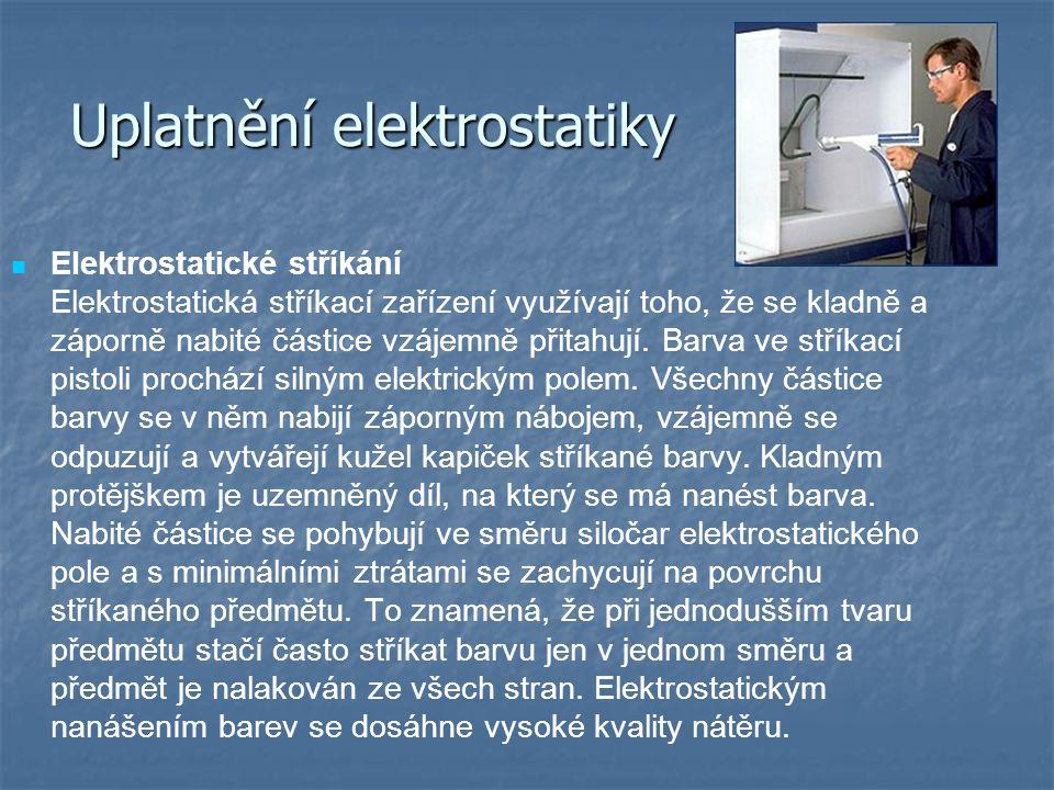 Uplatnění elektrostatiky