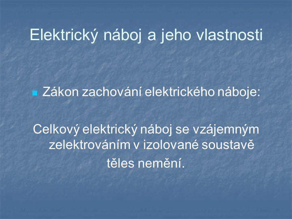 Elektrický náboj a jeho vlastnosti