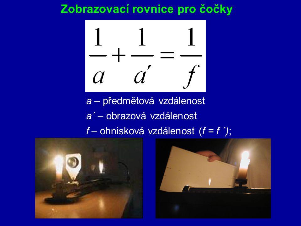 Zobrazovací rovnice pro čočky