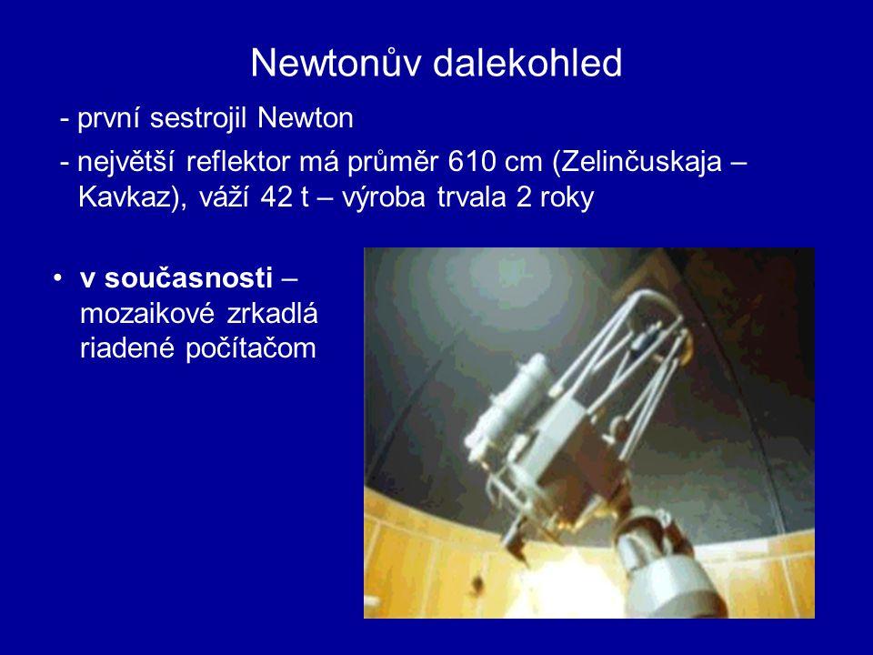 Newtonův dalekohled - první sestrojil Newton