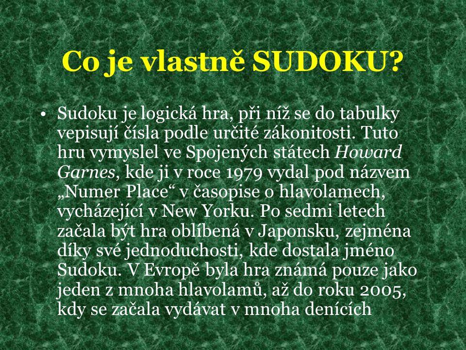 Co je vlastně SUDOKU