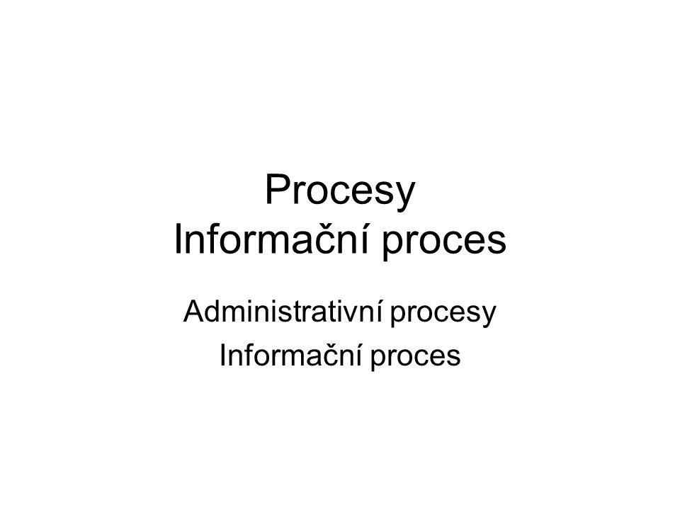 Procesy Informační proces