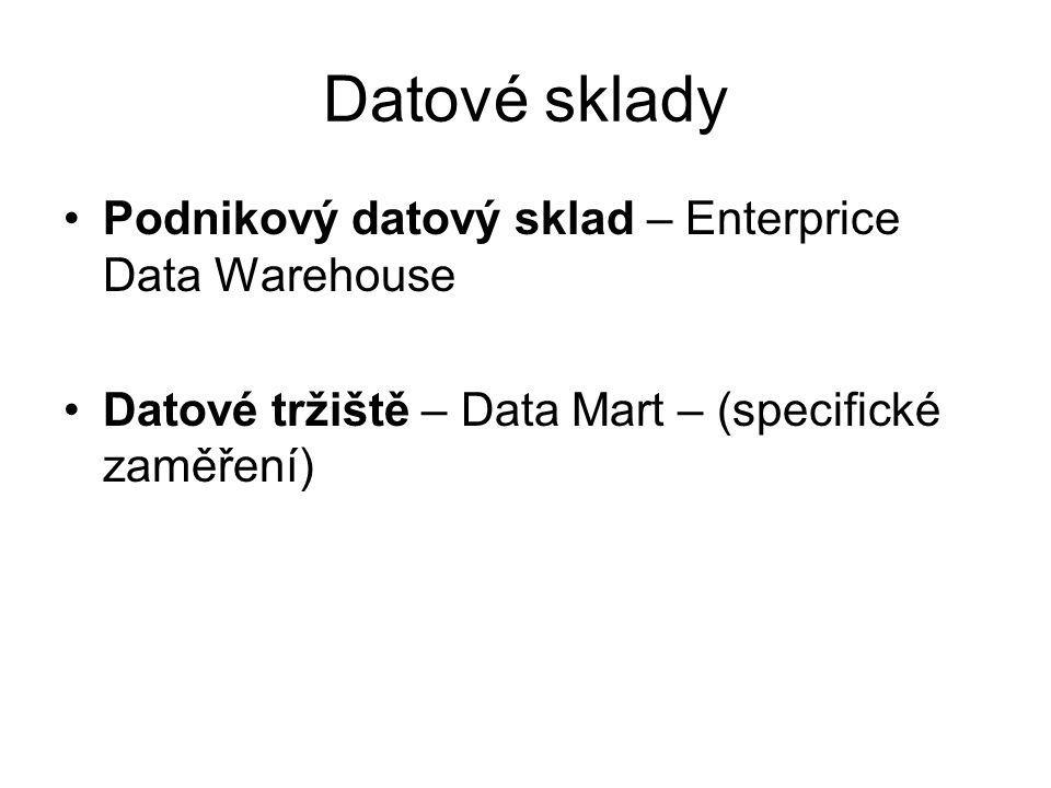 Datové sklady Podnikový datový sklad – Enterprice Data Warehouse