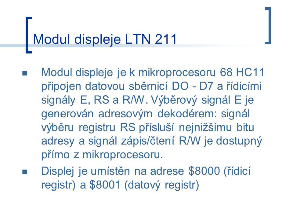 Modul displeje LTN 211