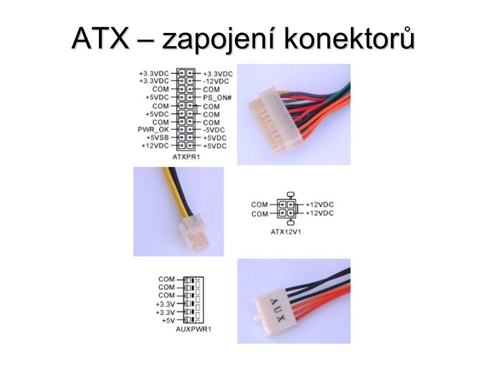 ATX – zapojení konektorů