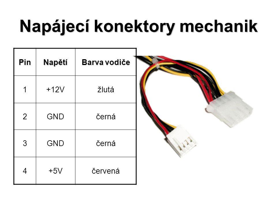 Napájecí konektory mechanik