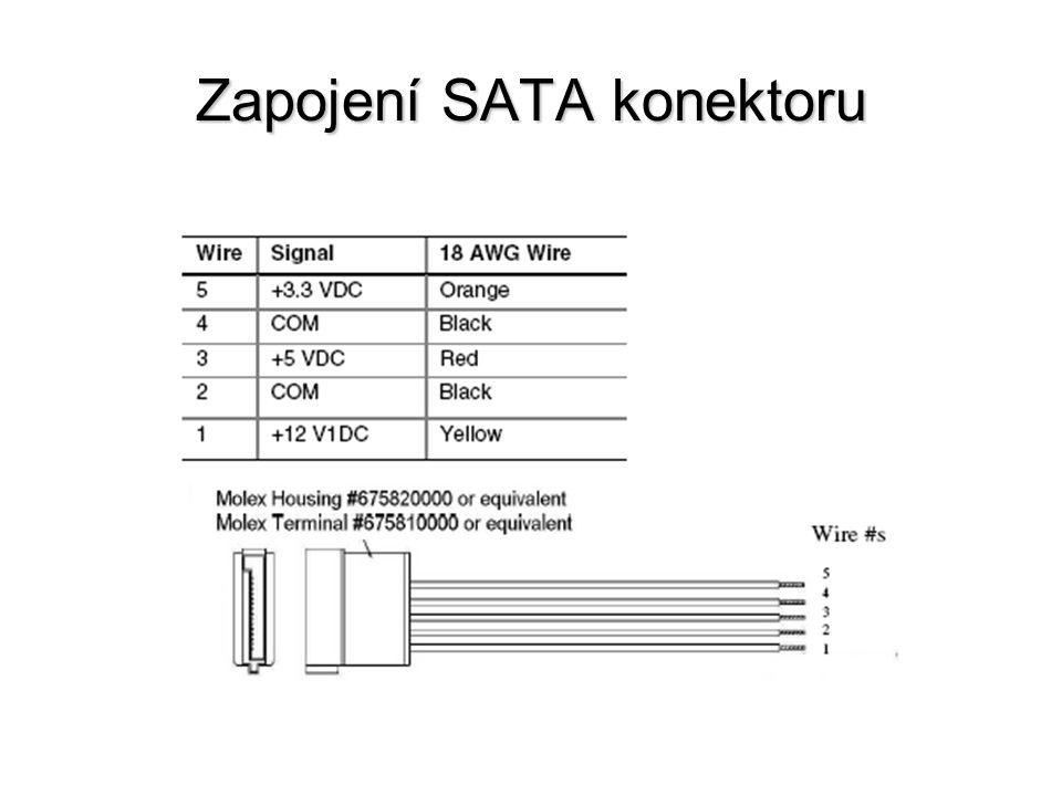 Zapojení SATA konektoru