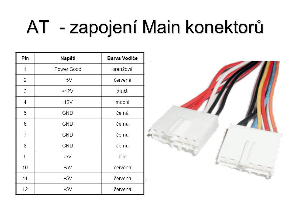 AT - zapojení Main konektorů