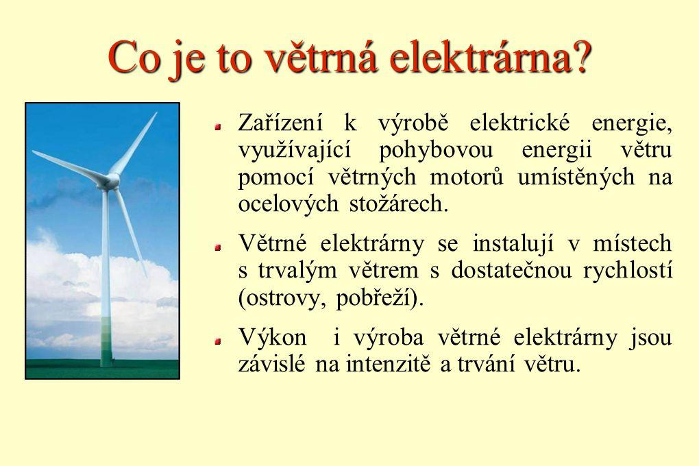 Co je to větrná elektrárna